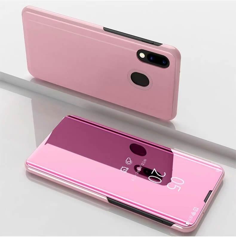 FORCELL MIRROR zaklapovací kryt Samsung Galaxy A40 růžový