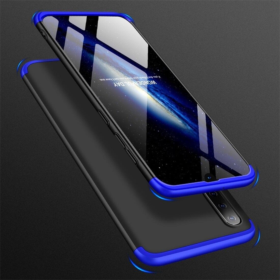 FORCELL 360 ° Ochranný obal Samsung Galaxy A50 černý-modrý