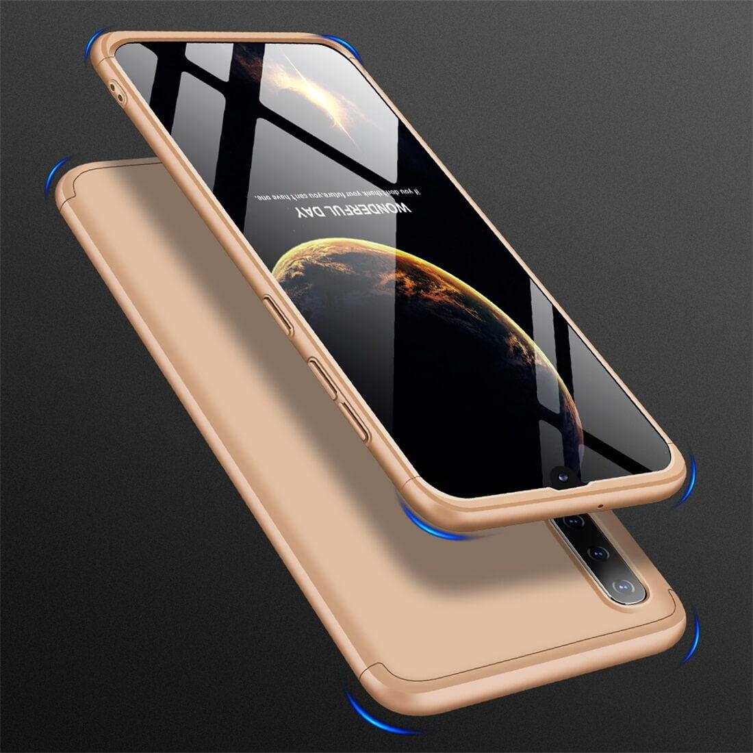 FORCELL 360 ° Ochranný obal Samsung Galaxy A50 zlatý