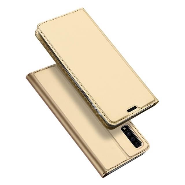 DUX Peňaženkové pouzdro Samsung Galaxy A7 2018 (A750) zlaté