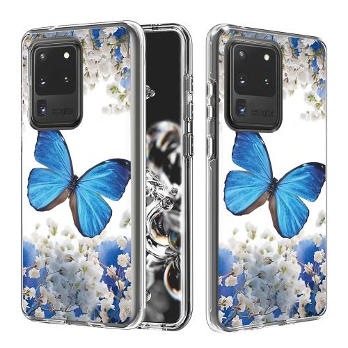 FORCELL DUAL ART Ochranný kryt Samsung Galaxy S20 Ultra BLUE BUTTERFLY