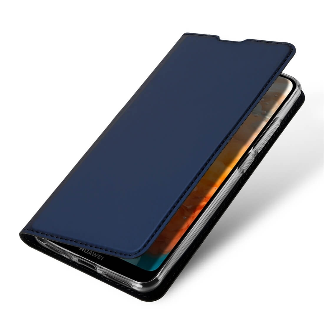 DUX Peňaženkový obal Huawei Y6 2019 modrý