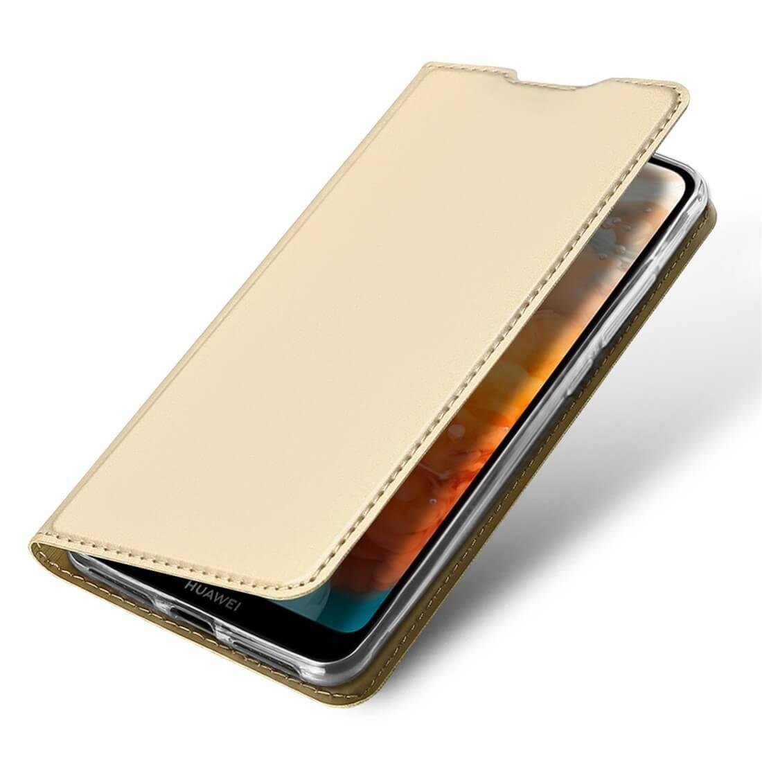 DUX Peňaženkový obal Huawei Y6 2019 zlatý