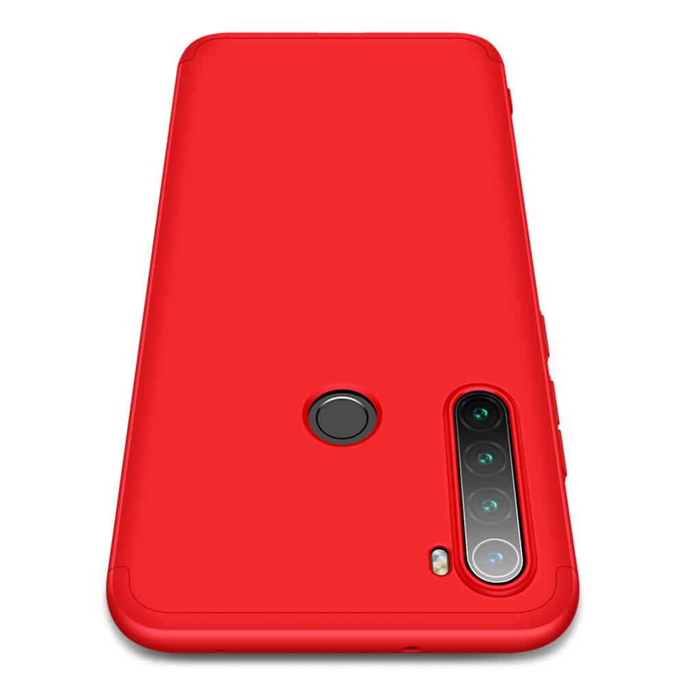 Levně FORCELL 360 ° Ochranný obal Xiaomi Redmi Note 8 červený