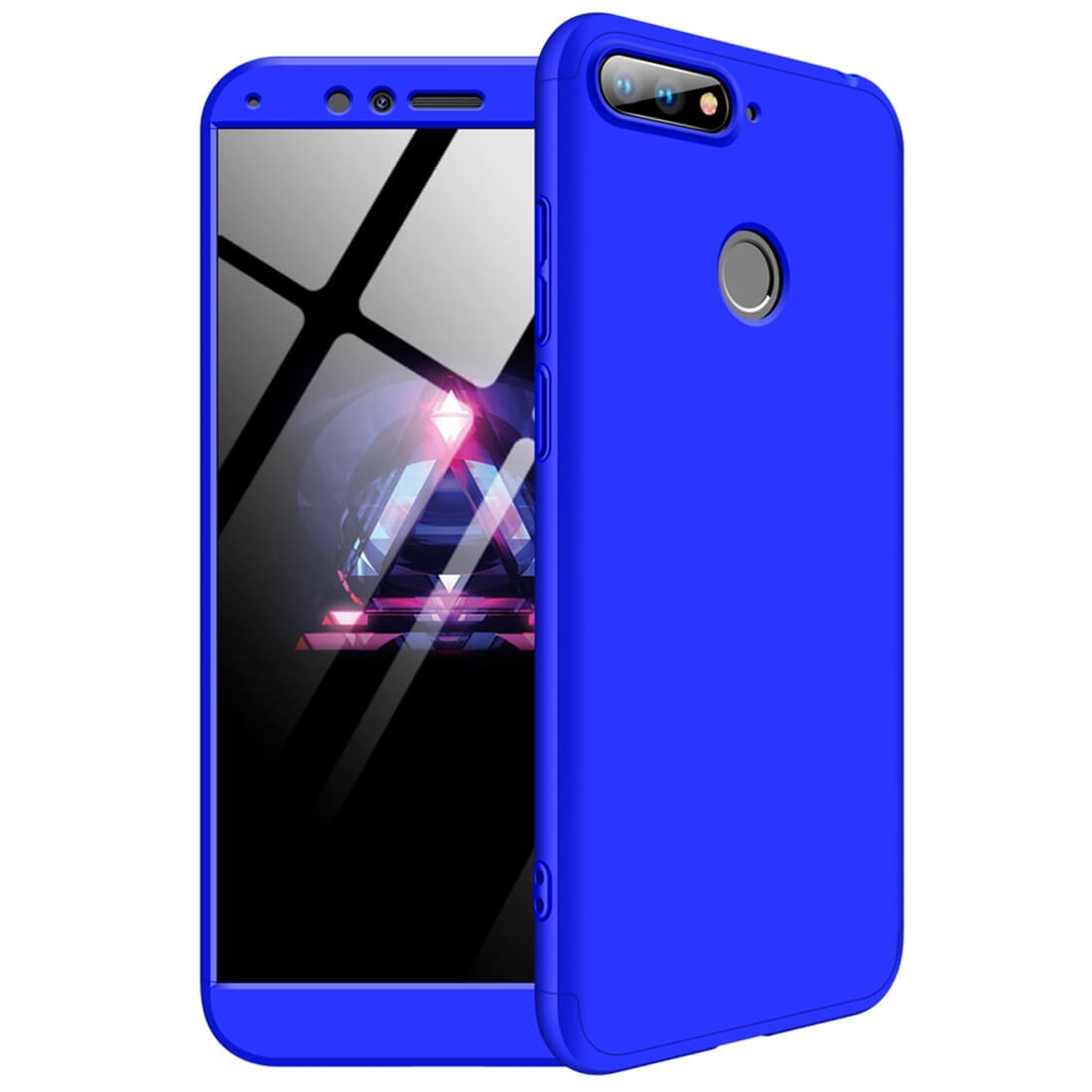 FORCELL 360 ° Ochranný kryt Huawei Y6 Prime 2018 modrý