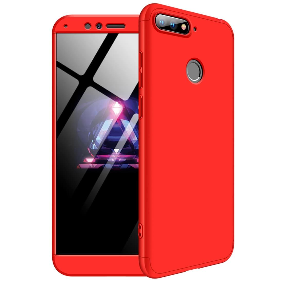 FORCELL 360 ° Ochranný kryt Huawei Y6 Prime 2018 červený