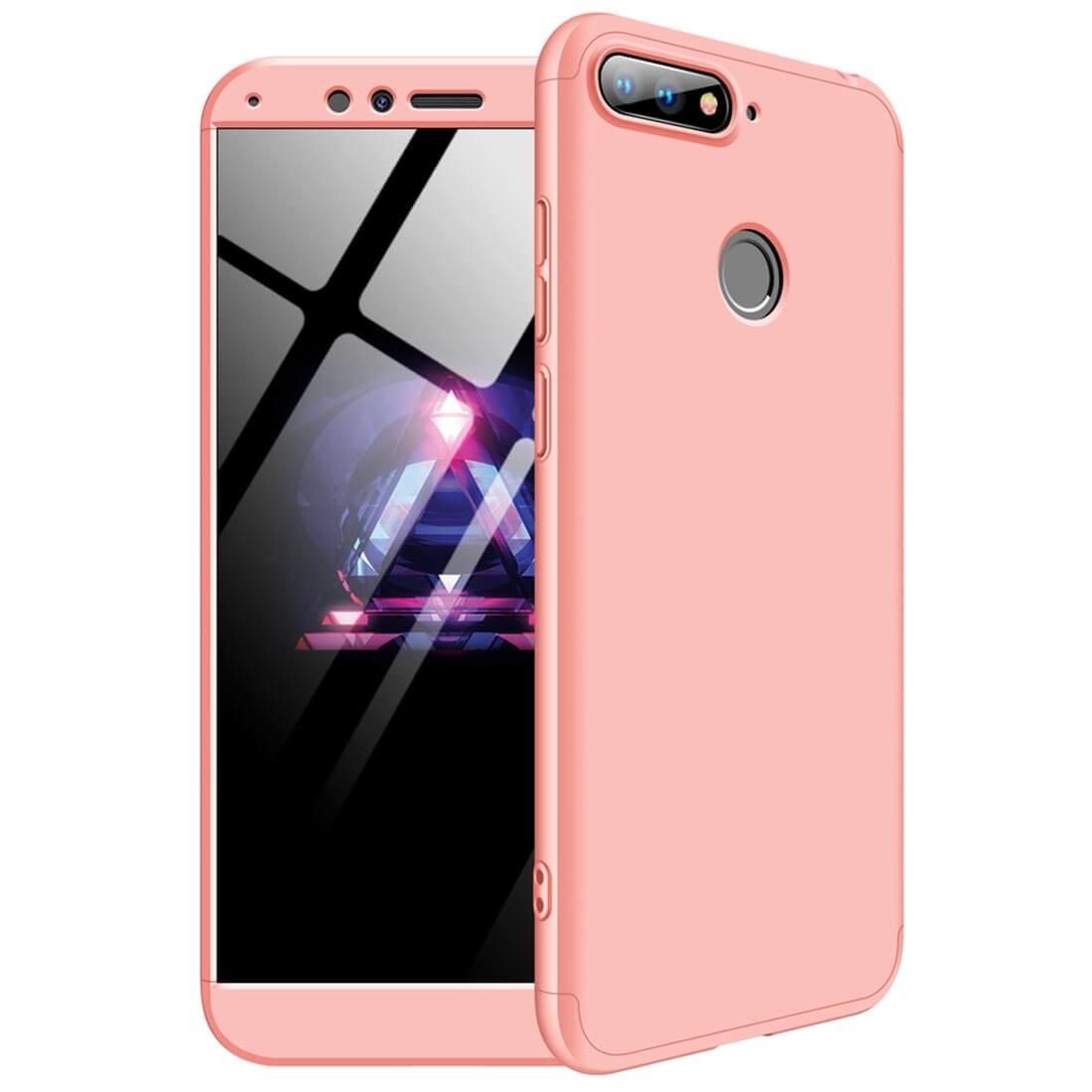 FORCELL 360 ° Ochranný kryt Huawei Y6 Prime 2018 růžový