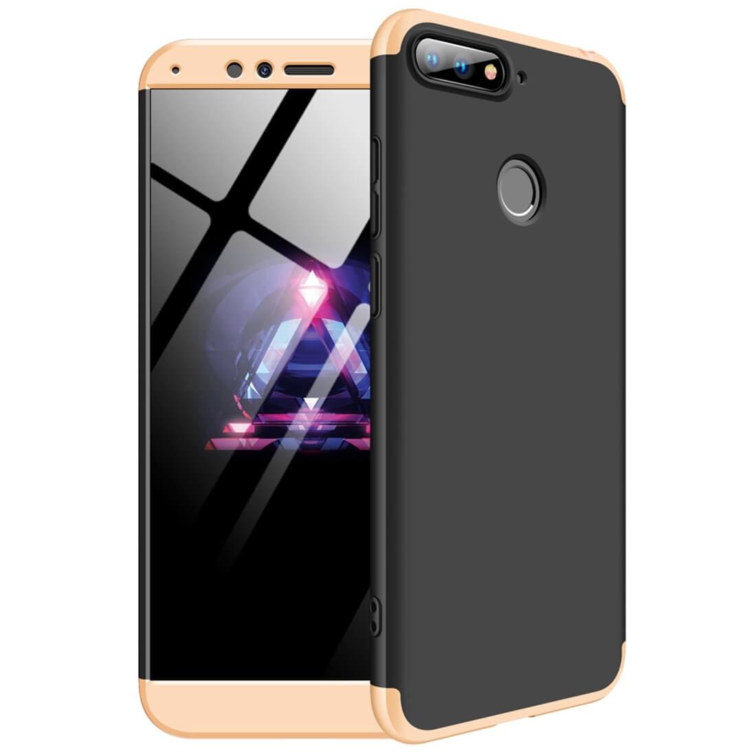 FORCELL 360 ° Ochranný kryt Huawei Y6 Prime 2018 černý-zlatý