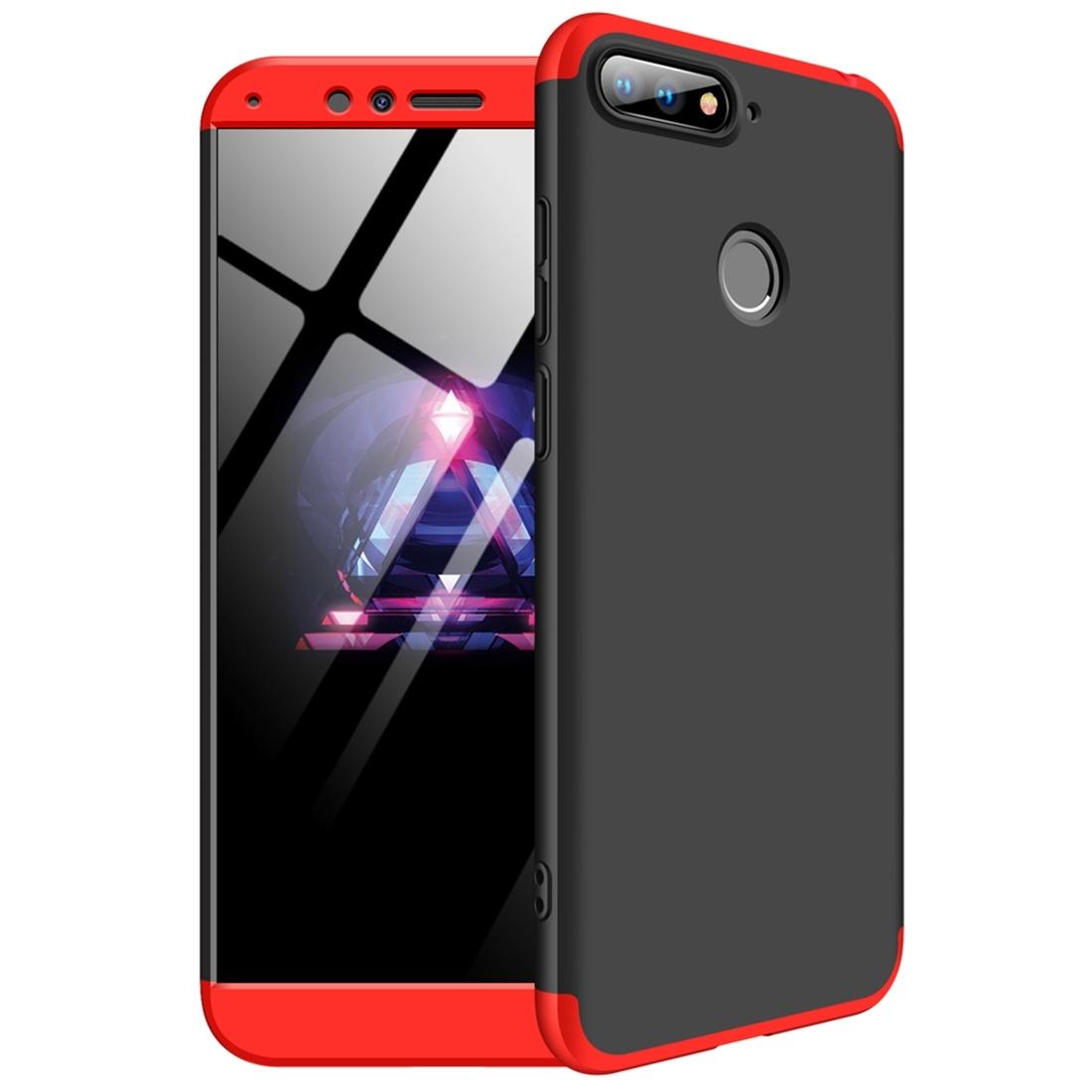 FORCELL 360 ° Ochranný kryt Huawei Y6 Prime 2018 černý-červený