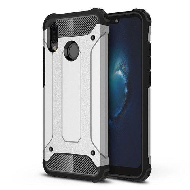 FORCELL TOUGH Ochranný kryt Huawei P20 Lite stříbrný