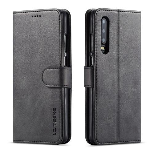 Levně IMEEKE Peňaženkový obal Huawei P30 černý