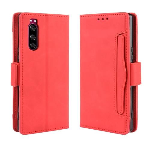 FORCELL STYLE Peňaženkový obal Sony Xperia 5 červený