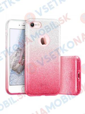 SHINING Ochranný obal Apple iPhone 5 / 5S / SE růžovo-stříbrný