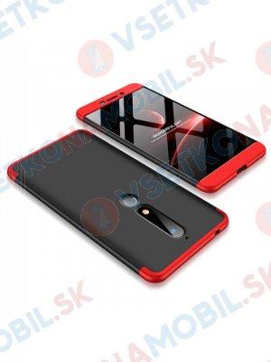 360 ° Ochranný obal Nokia 6.1 černý (červený)