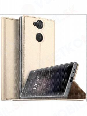 DUX Peňaženkový obal Sony Xperia XA2 ultra zlatý