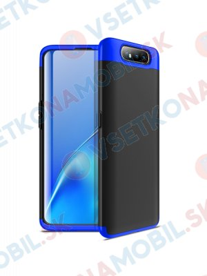 360 ° Ochranný obal Samsung Galaxy A80 černý-modrý
