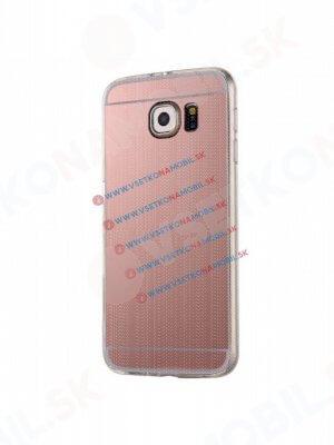 Zrcadlový silikonový obal Samsung Galaxy S6 Edge Plus růžový