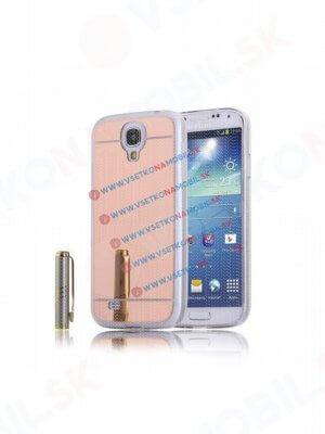 Zrcadlový silikonový obal Samsung Galaxy S4 růžový