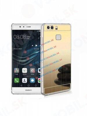 Zrcadlový silikonový obal Huawei P9 zlatý