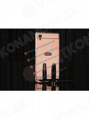 Zrcadlový obal Sony Xperia M4 Aqua růžový