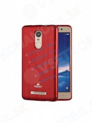 MERCURY JELLY Gumový obal Xiaomi Redmi Note 3 červený