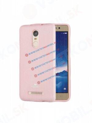 MERCURY JELLY Gumový obal Xiaomi Redmi Note 3 růžový