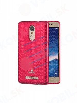 MERCURY JELLY Gumový obal Xiaomi Redmi Note 3 růžový (strong)