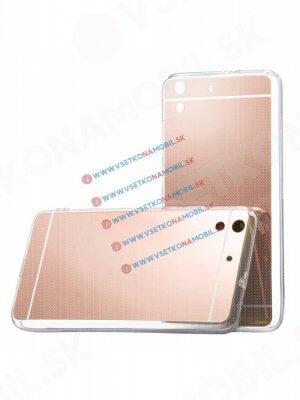 Zrcadlový silikonový obal Huawei Y6 II růžový