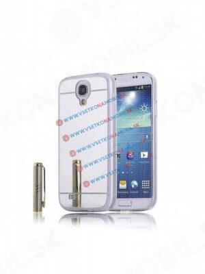Zrcadlový silikonový obal Samsung Galaxy S4 stříbrný