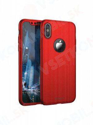 IPAKY 360 ° Ochranný obal Apple iPhone X / XS červený