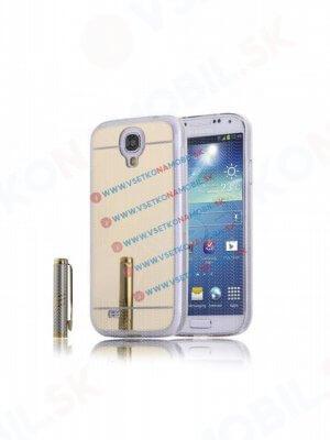 Zrcadlový silikonový obal Samsung Galaxy S4 zlatý