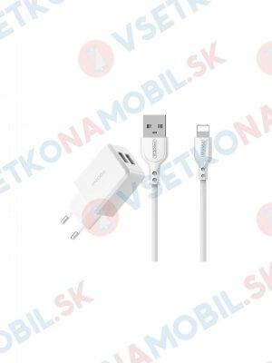 PRODA LINSHY PRO Sieťová nabíjačka 2x USB + Lightning kábel biela