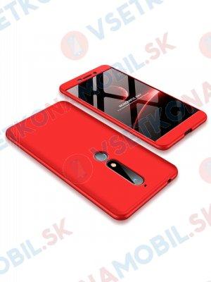 360 ° Ochranný obal Nokia 6.1 červený