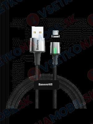 BASEUS ZINC Magnetický kabel micro USB 1m černý
