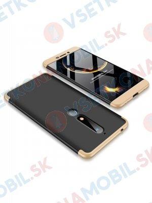 360 ° Ochranný obal Nokia 6.1 černý (zlatý)