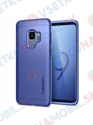 SPIGEN THIN FIT 360 ° obal + 9H Ochranné sklo Samsung Galaxy S9 modrý (Coral Blue)