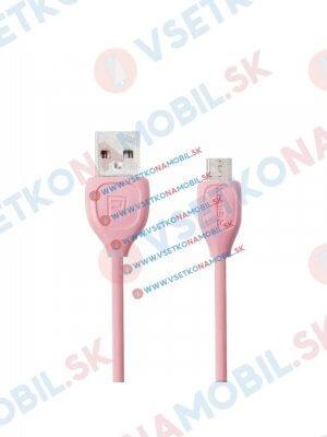 Lesu MicroUSB Datový kabel pro Android růžový