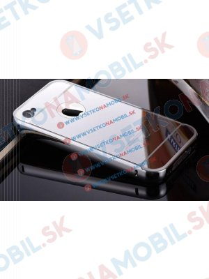 Ochranný zrcadlový obal Apple iPhone 4 / 4S stříbrný