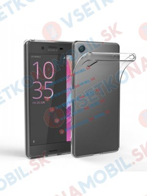 Silikonový obal Sony Xperia E5 průhledný