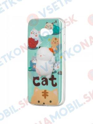 4D ANIMAL Silikonový obal Samsung Galaxy A5 2017 (A520) CAT