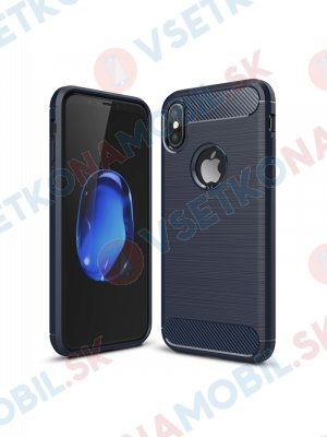 FLEXI TPU Ochranný kryt Apple iPhone XS Max modrý