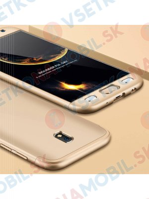 360 ° Ochranný obal Samsung Galaxy J7 2017 (J730) zlatý