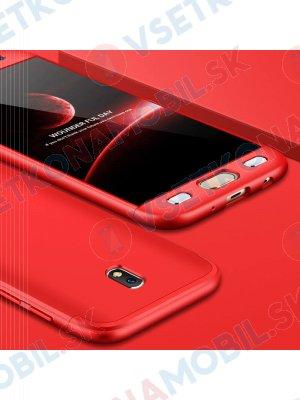 360 ° Ochranný obal Samsung Galaxy J7 2017 (J730) červený