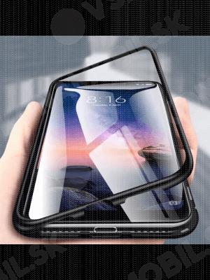 Magnetický obal + tvrzené sklo Xiaomi Redmi Note 8 Pro černý