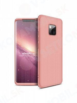360 ° ochranný obal Huawei Mate 20 Pro růžový