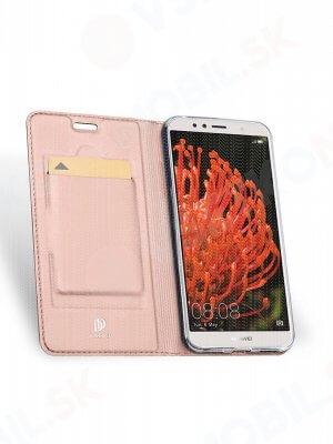 DUX Peňaženkový obal Huawei Y6 2018 růžový