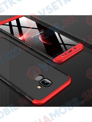 360 ° Ochranný kryt Samsung Galaxy A6 (A600) černý (červený)