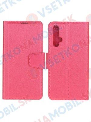 DIARY Peňaženkový kryt Huawei Nova 5T ružový