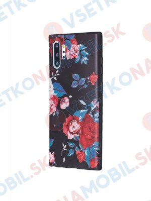 ART TPU Ochranný kryt Samsung Galaxy Note 10+ RED FLOWER