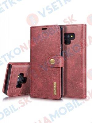 DG.MING Peňaženkový obal 2v1 Samsung Galaxy Note 9 červený